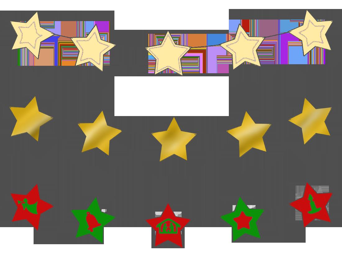 Star magic activities. Garland clipart stars
