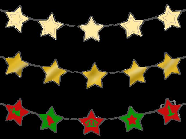 Star magic activities . Garland clipart stars