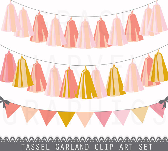 Garland clipart tassel garland. And bunting banner clip