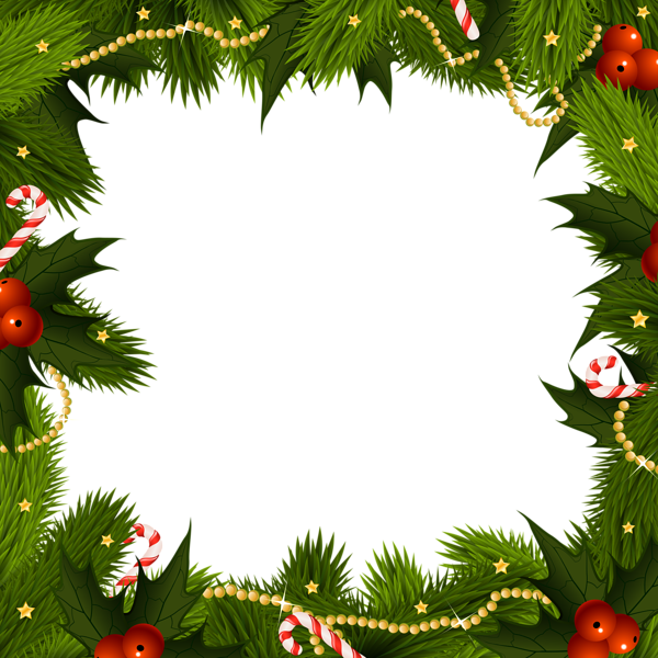 Poinsettias clipart border. Transparent christmas png frame