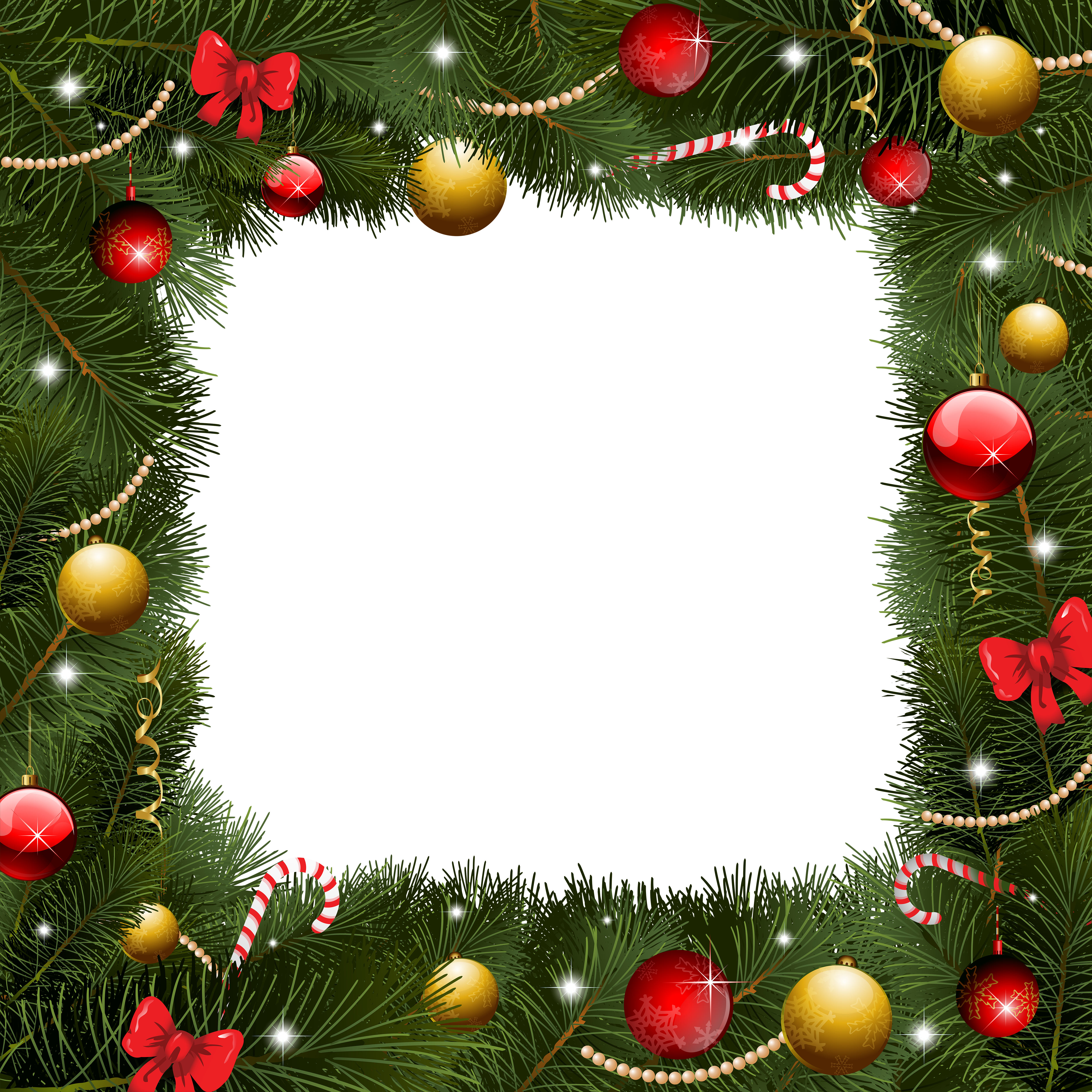 Garland clipart transparent background christmas. Borders images acur lunamedia