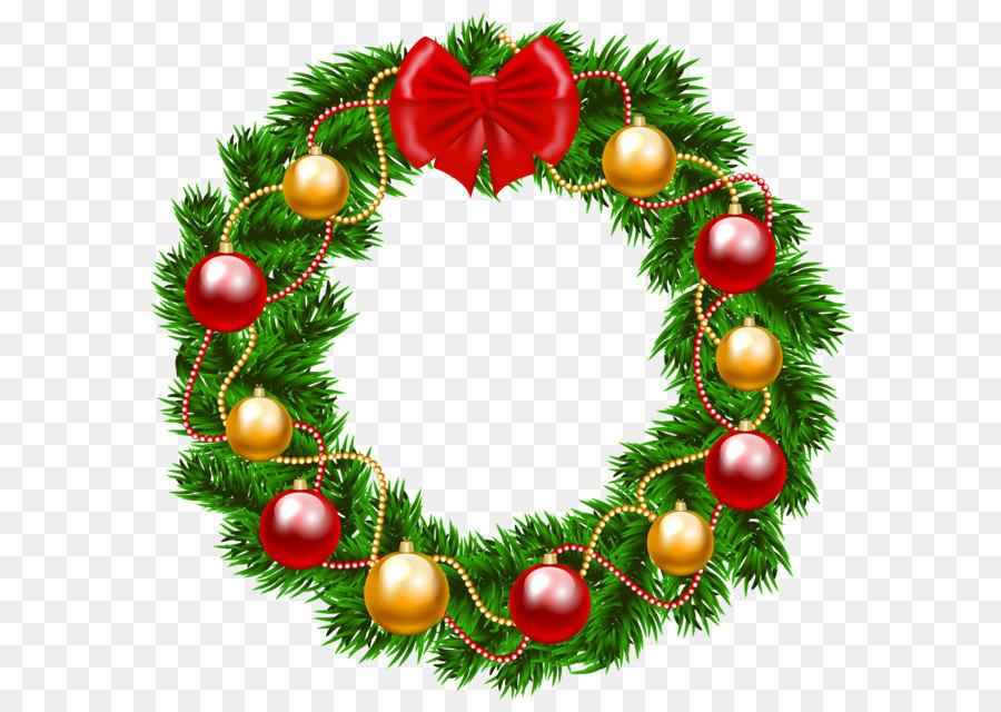Garland clipart transparent background christmas. Wreath clip art png