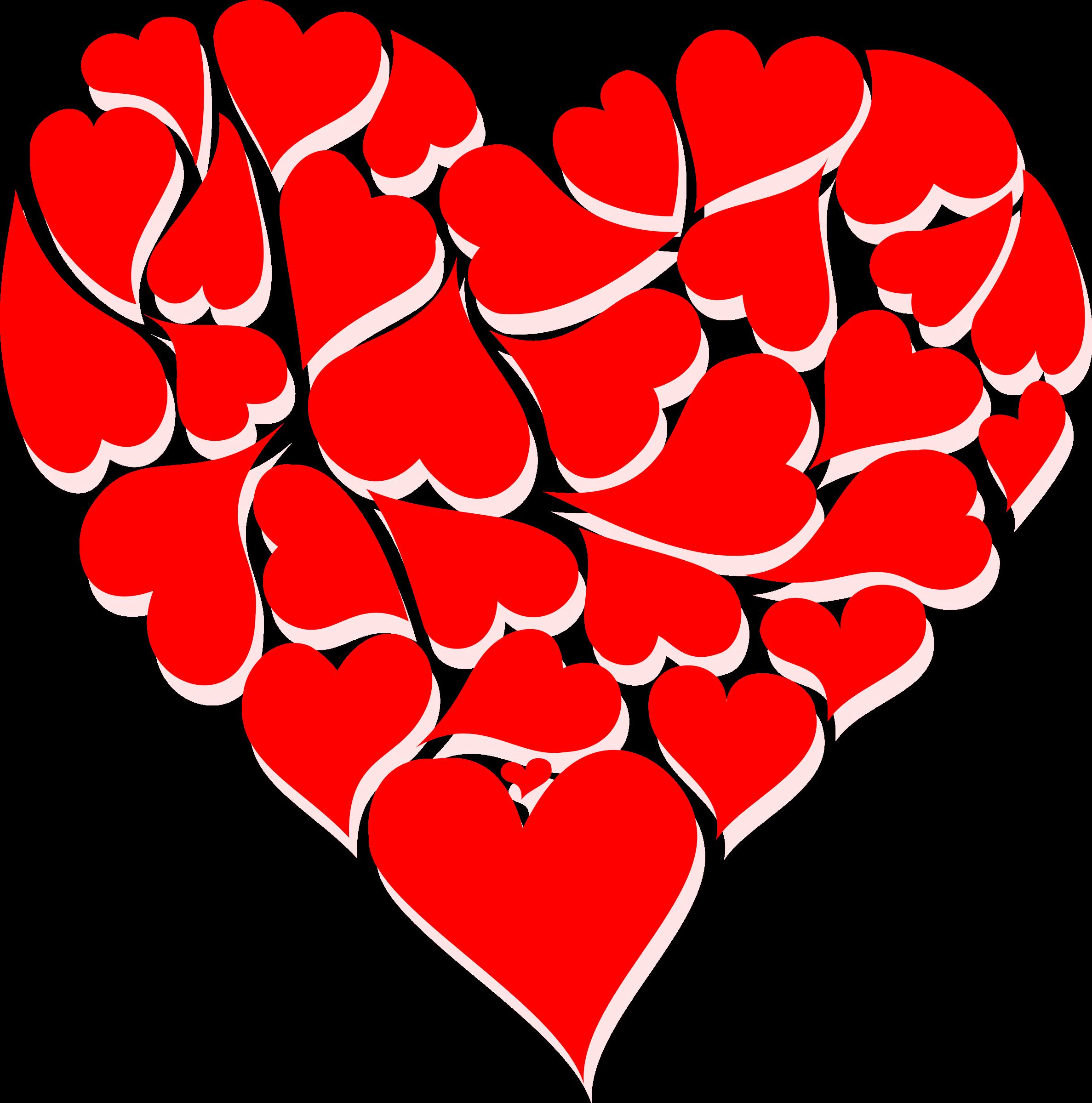 Garland clipart valentines. Big valentine day heart