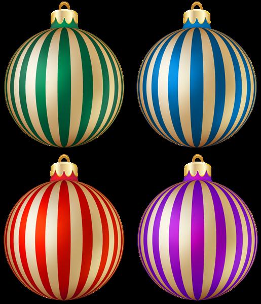 Garland clipart winter. Christmas striped balls transparent