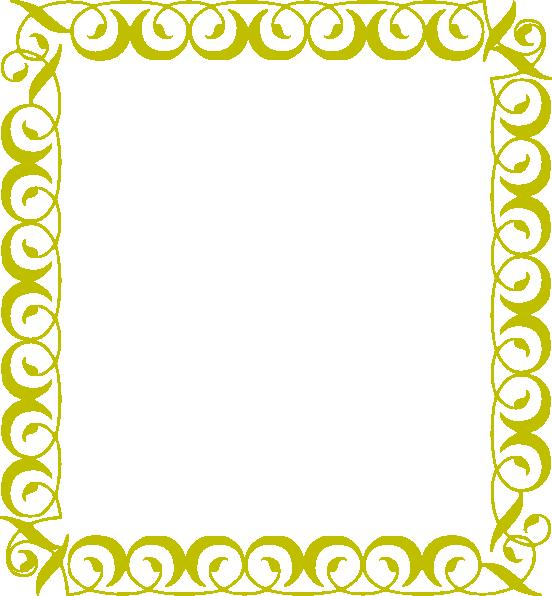 Garland clipart yellow. Border clip art at
