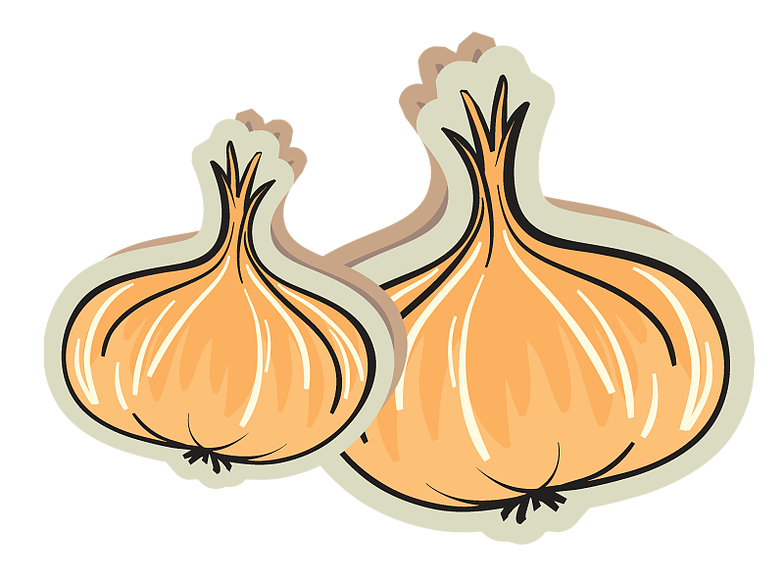 Local commercial commissary kitchen. Onion clipart onion slice