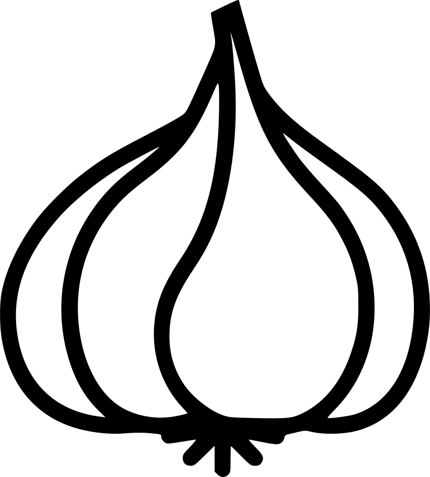 collection of drawing. Garlic clipart black and white