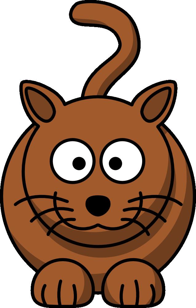 Kitty clipart cartoon. Free cat clip art