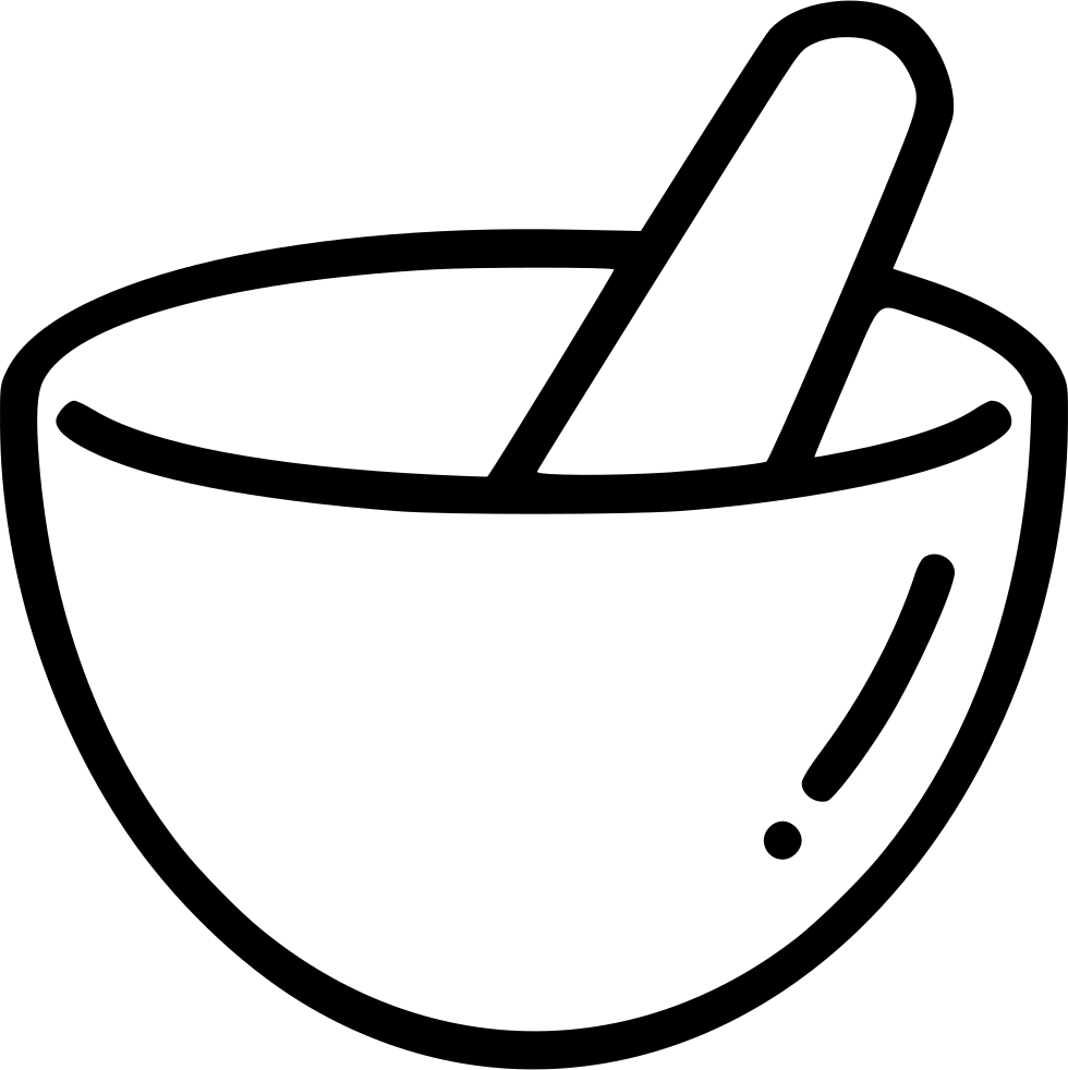 Noodles clipart bowl drawing. Mortar and pestle at