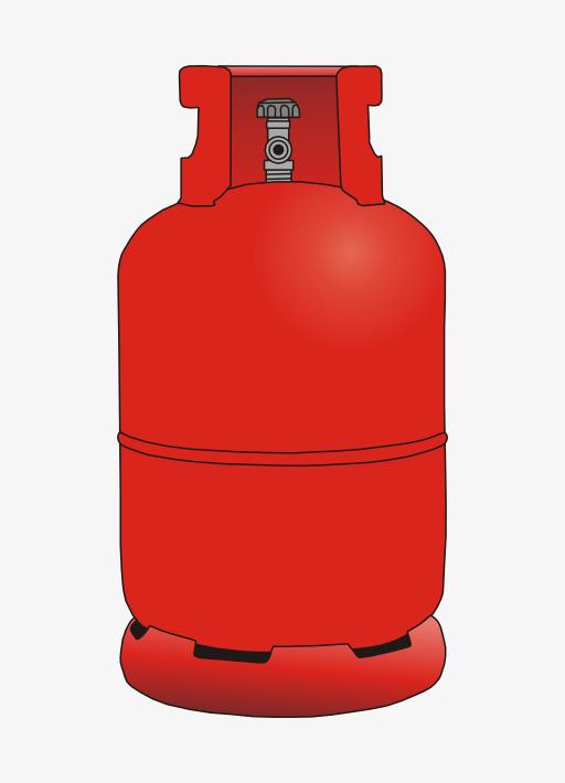 Gas clipart. Red tank long cartoon