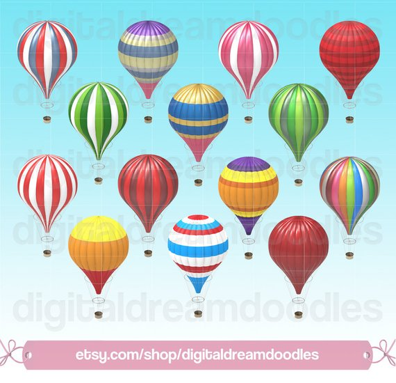 Hot balloon vintage clip. Gas clipart air ballon