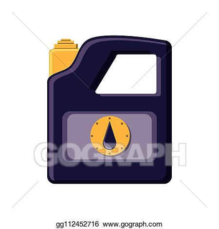 Vector illustration of gasoline. Gas clipart gallon gas