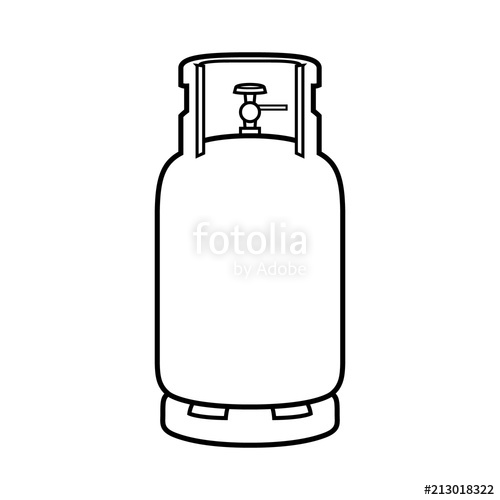 Gas clipart gas canister. Cartoon cylinder black line
