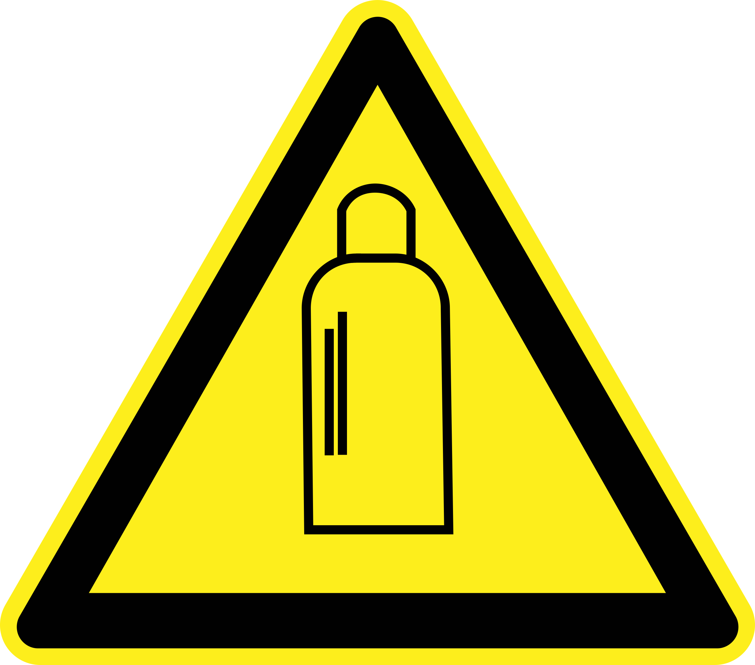 Cylinders warning sign big. Gas clipart gas canister