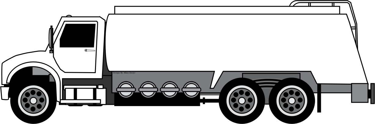 Oil and Gas Tanker Truck Icons PNG