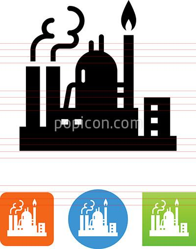 Oil and refinery icon. Gas clipart gas plant