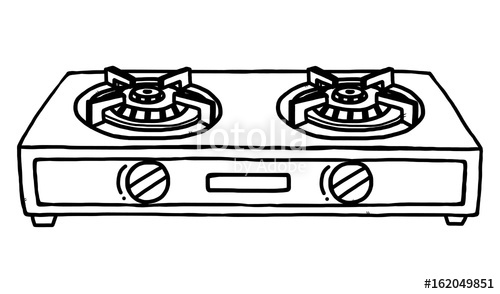 Gas clipart gas range. Stoves cartoon vector and