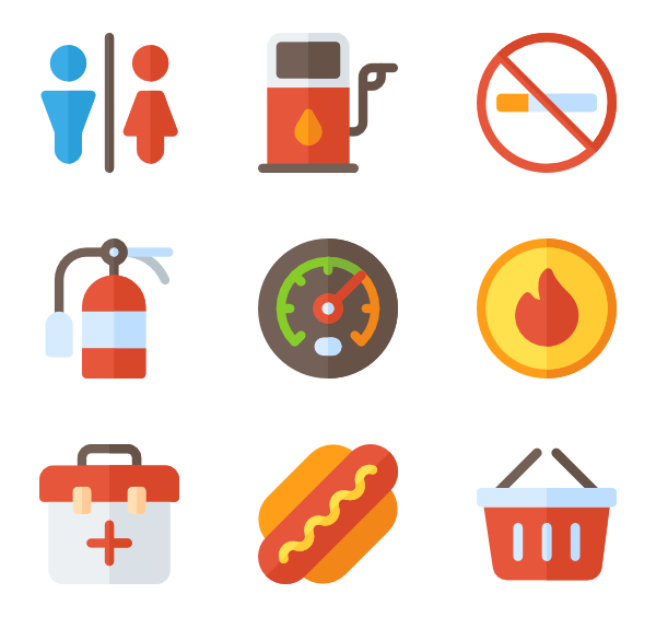 Station icons free vector. Gas clipart gass