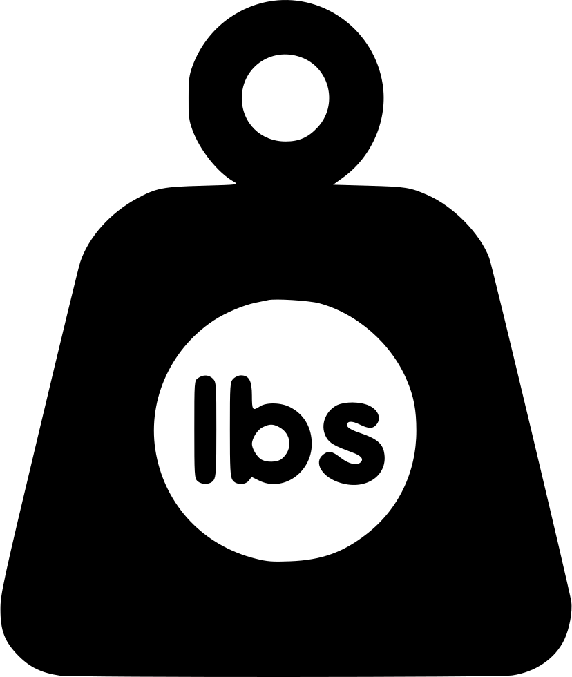 Weight clipart right. Lbs svg png icon