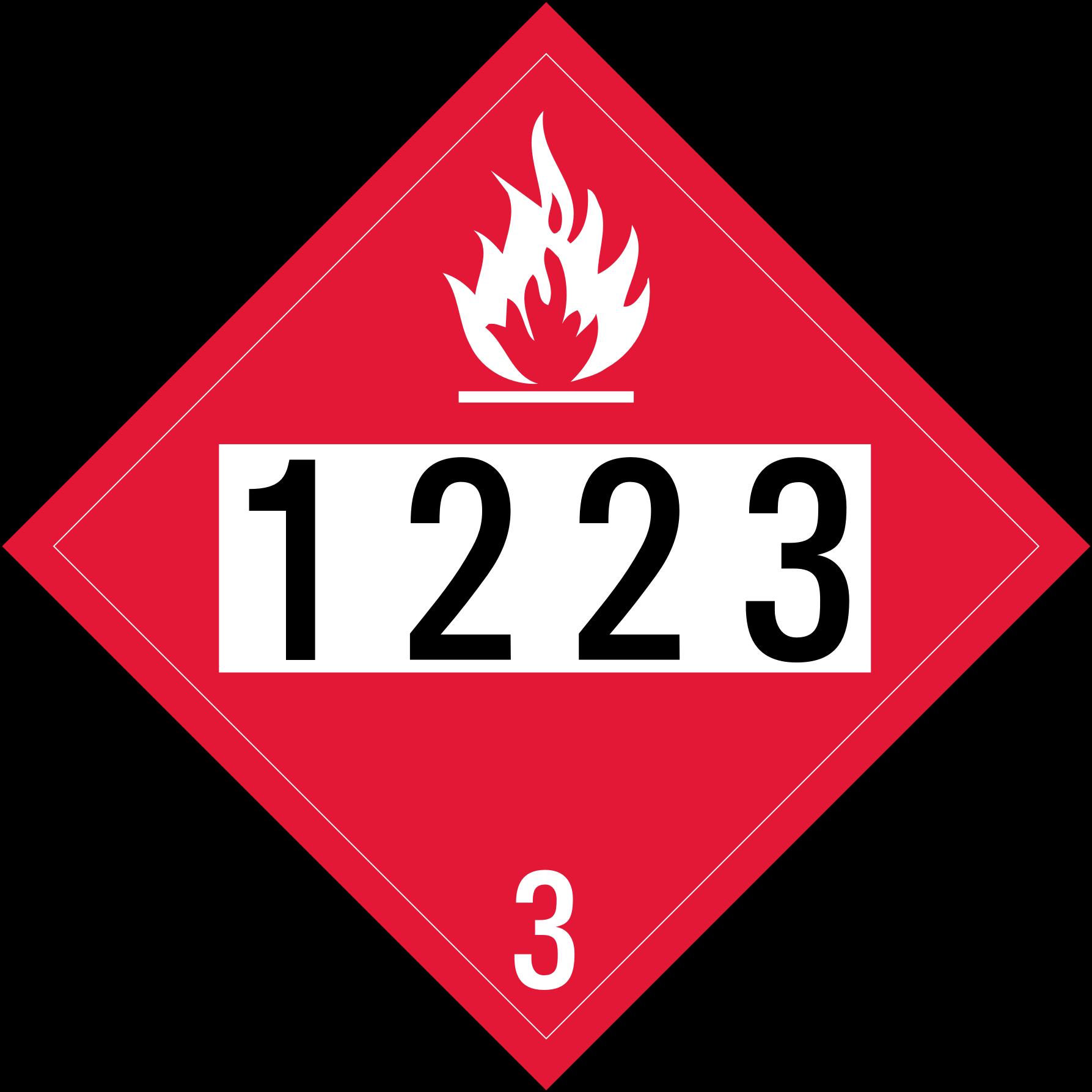 Un flammable placard alpin. Gas clipart kerosene