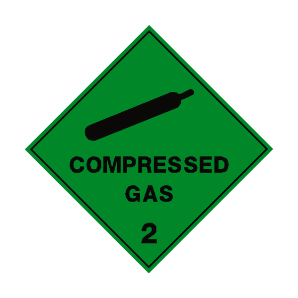 Compressed label safety co. Gas clipart nitrogen gas