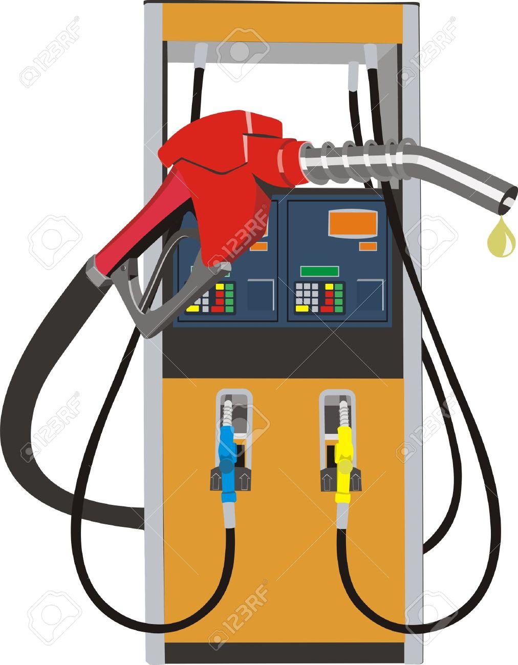 Cool cliparts stock vector. Gas clipart petrol pump machine