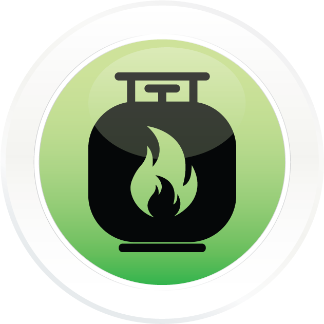 Fuel services hiway amoco. Gas clipart propane
