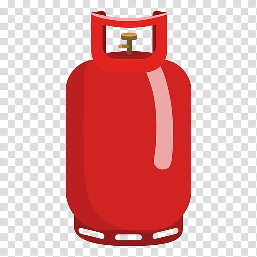 Cylinder liquefied petroleum silhouette. Gas clipart propane