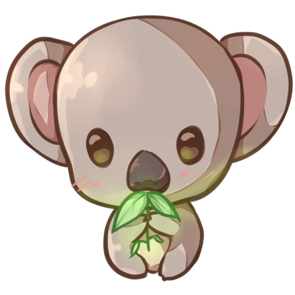 Toucan clipart kawaii. Koala copie by dessineka