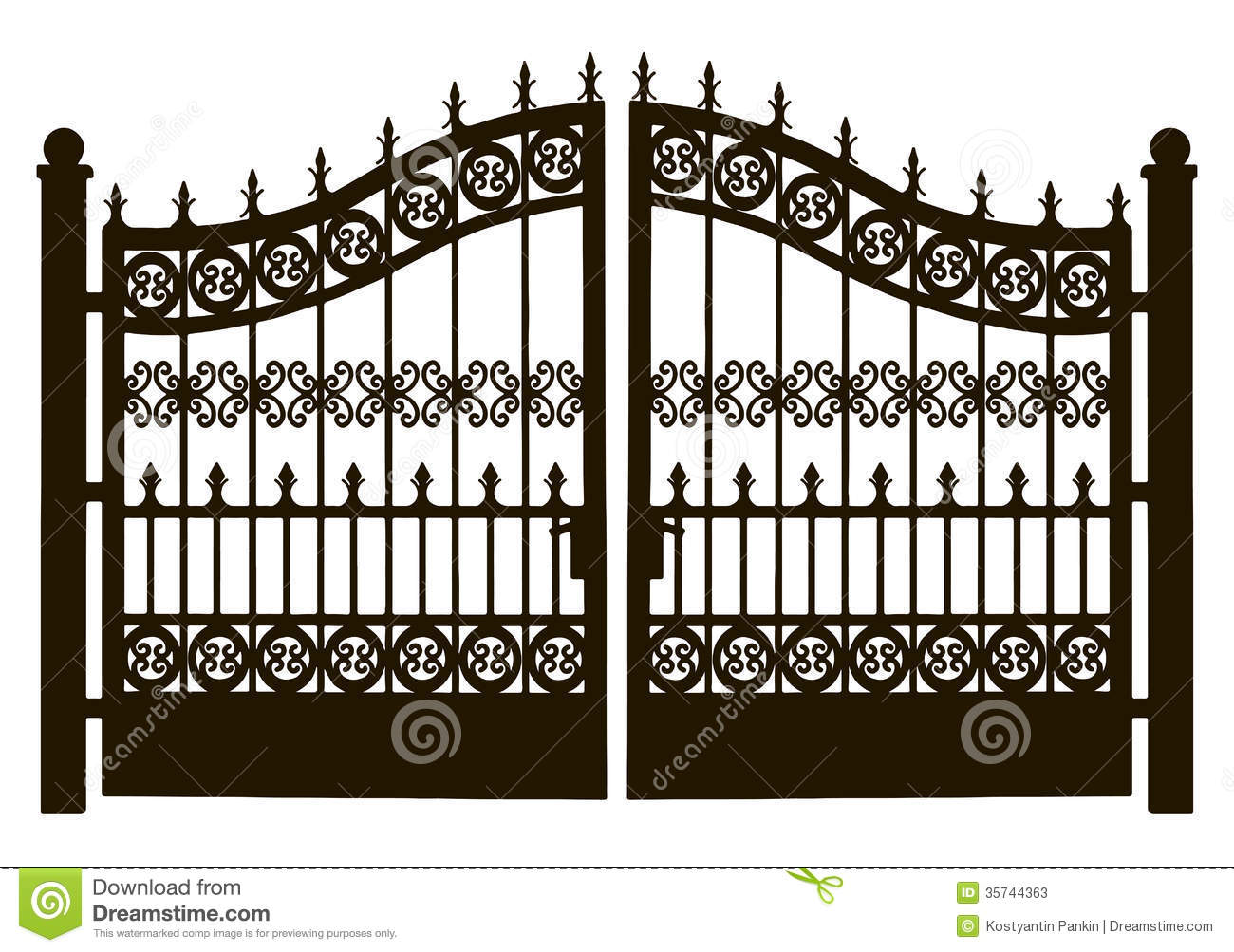 Metal Garden Gate Clipart