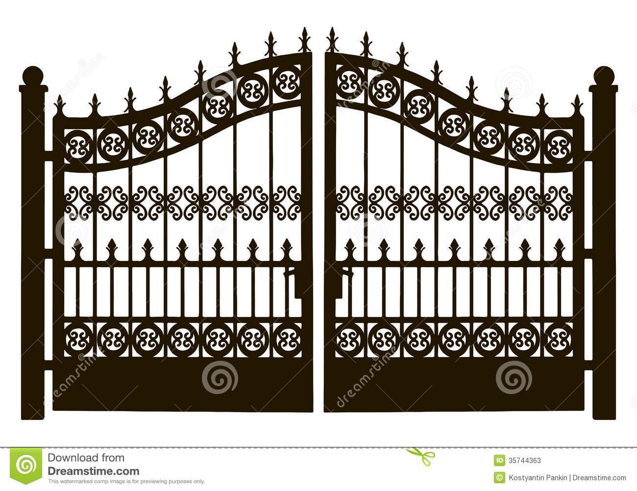 Gate clipart. Metal garden