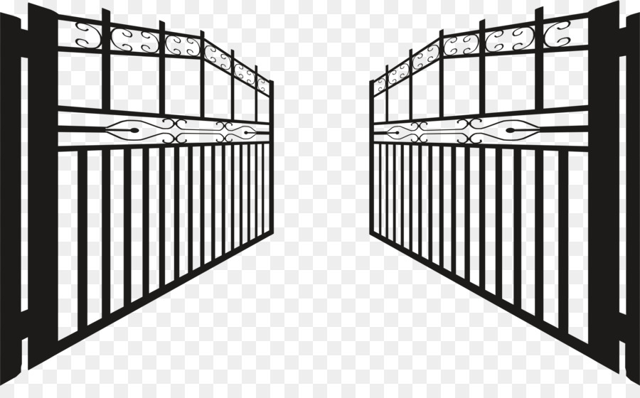 Fence clip art iron. Gate clipart