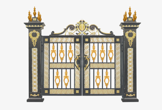 Gate clipart. Castle entrance door noble