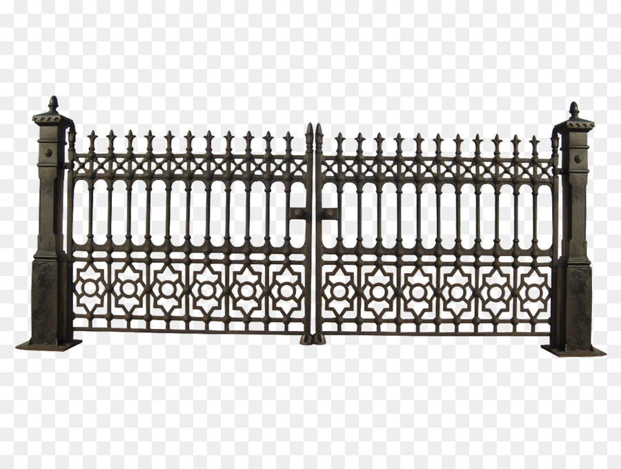 Iron railing wrought clip. Gate clipart