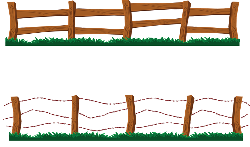 Gate clipart barbed wire. Cartoon western clip art