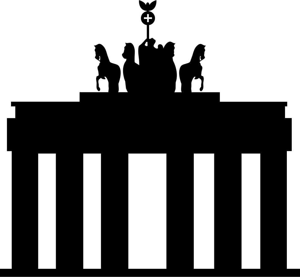 Gate clipart big gate. Brandenburg svg png icon
