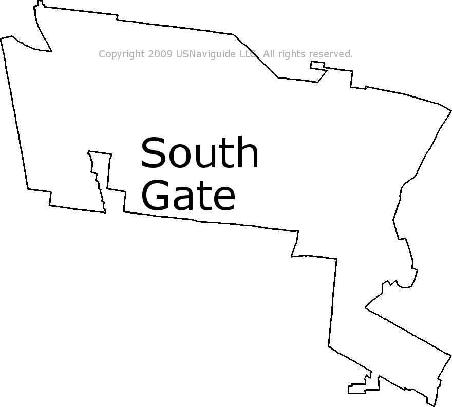 South california zip code. Gate clipart boundary