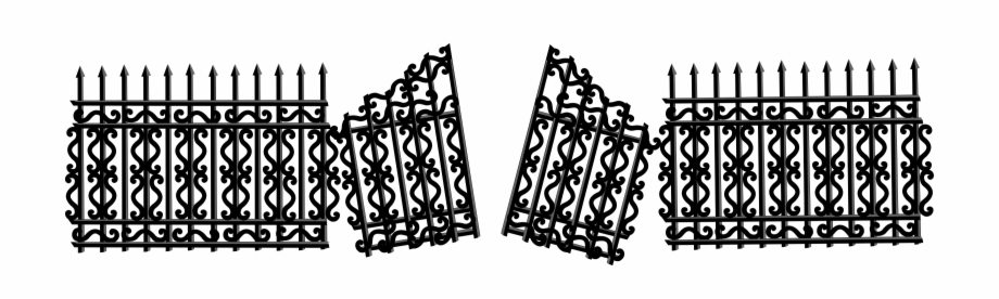 Gate clipart broken gate. This free icons png