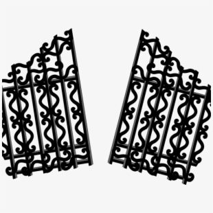 Free cliparts silhouettes cartoons. Gate clipart broken gate