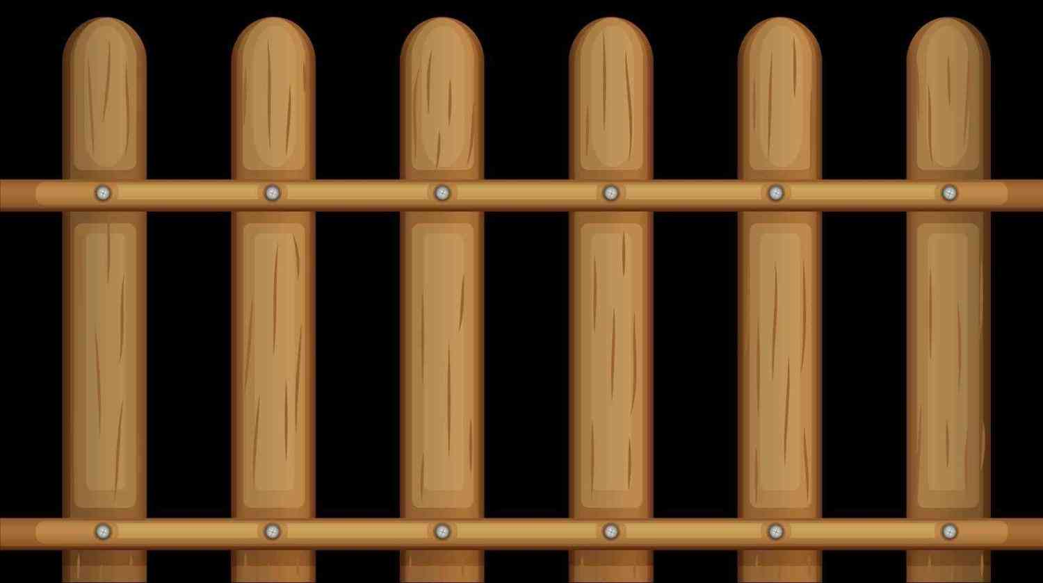 Gate clipart brown fence. With pencil and