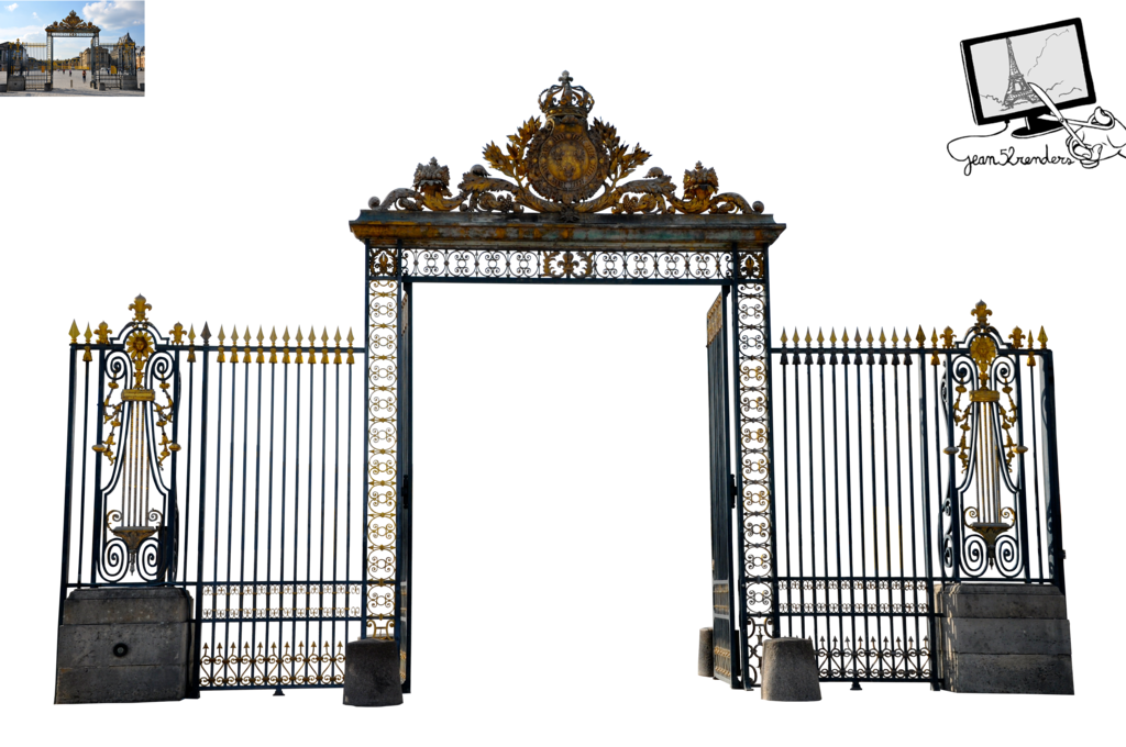 Of versailles png by. Gate clipart cemetery gates