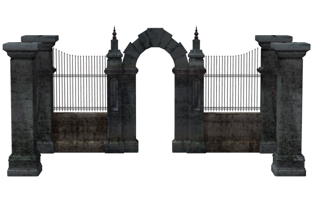 Cemetery gates png transparent. Gate clipart creepy