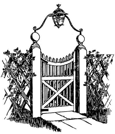 How to make a. Gate clipart dream garden