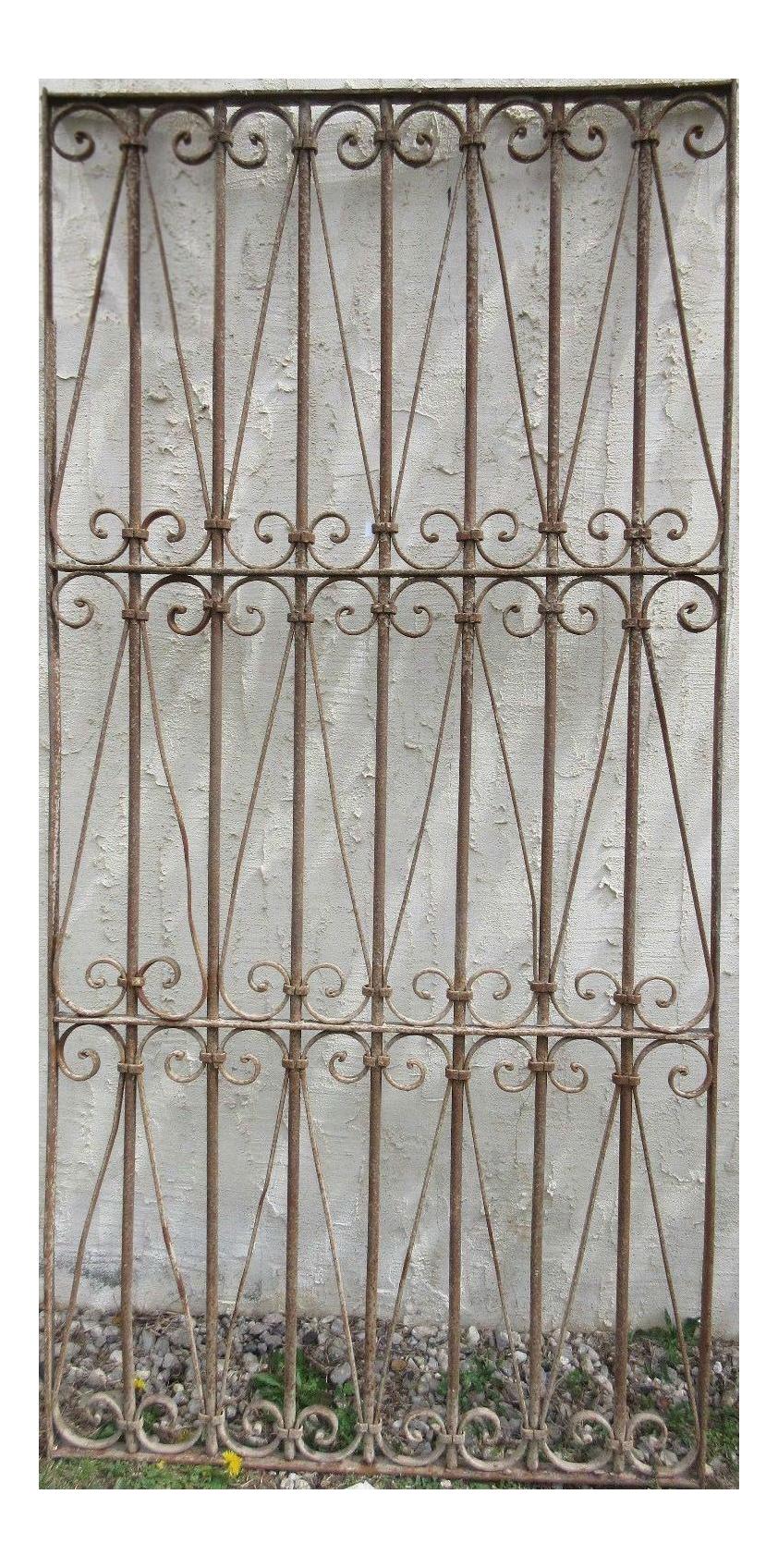 Antique Victorian Iron Gate Window Garden Fence Architectural