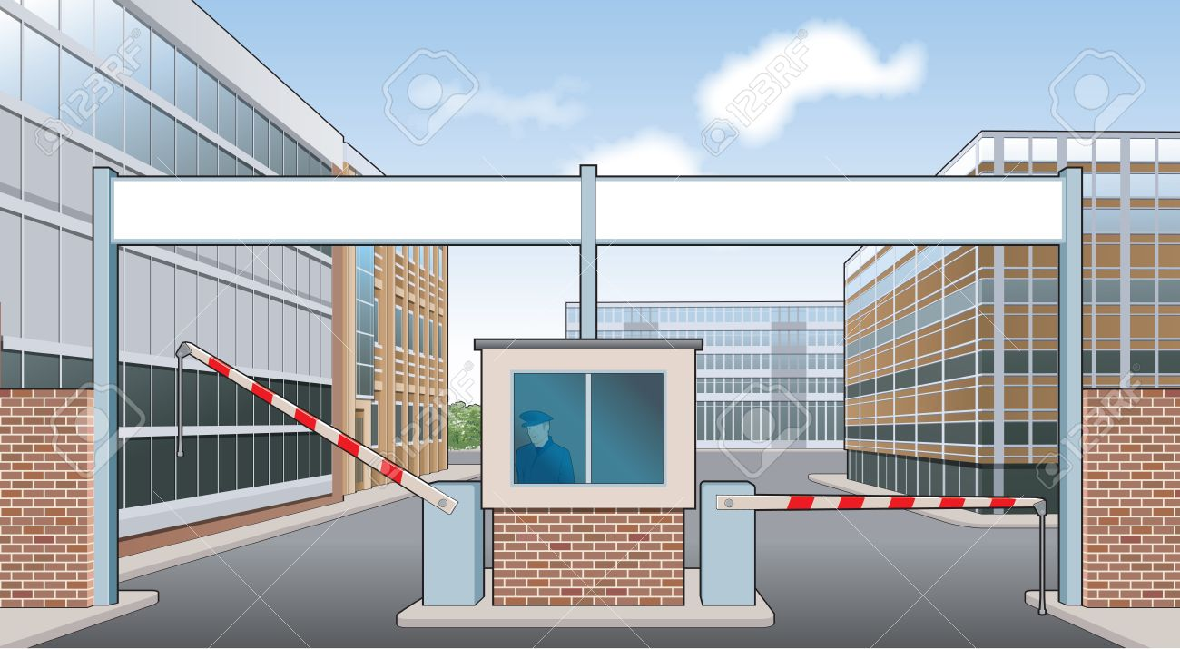 . Gate clipart factory gate
