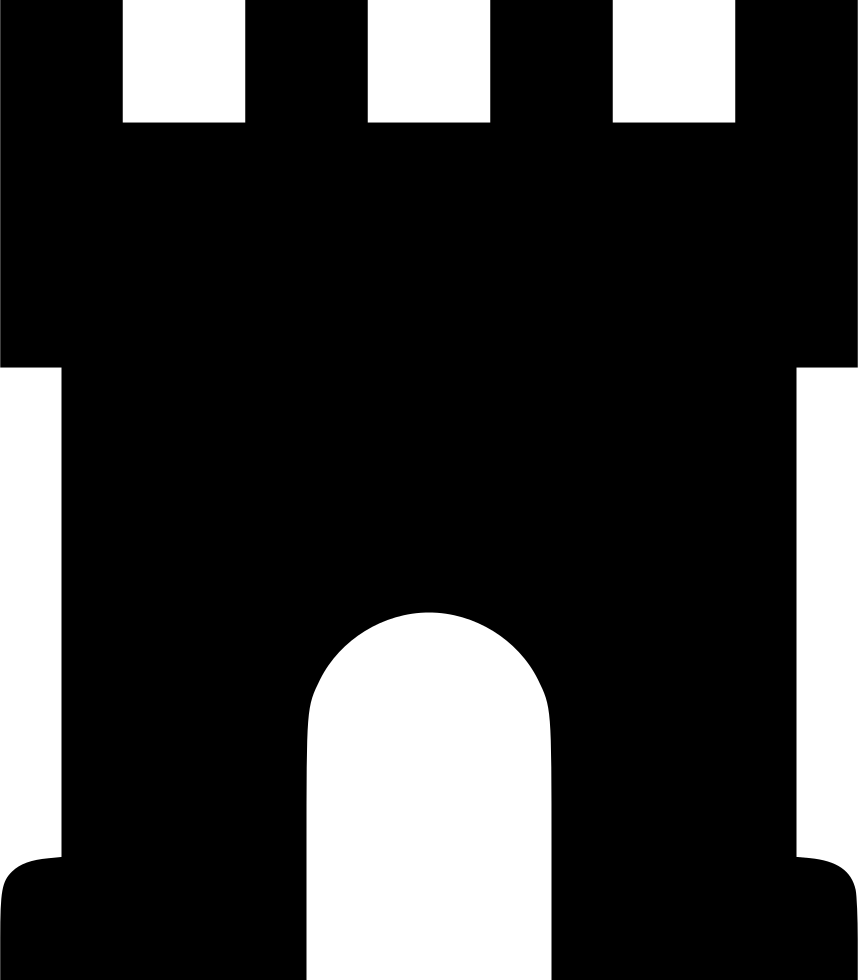 Gate clipart factory gate. Castle svg png icon