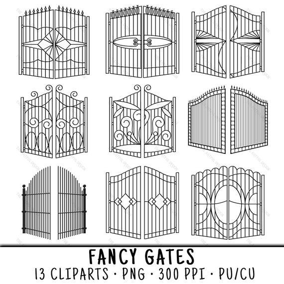 Gate clipart fancy. Clip art png gates