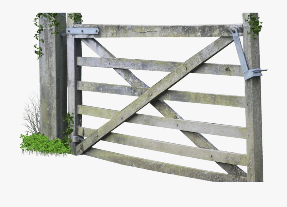 Pencil and in color. Gate clipart farm gate