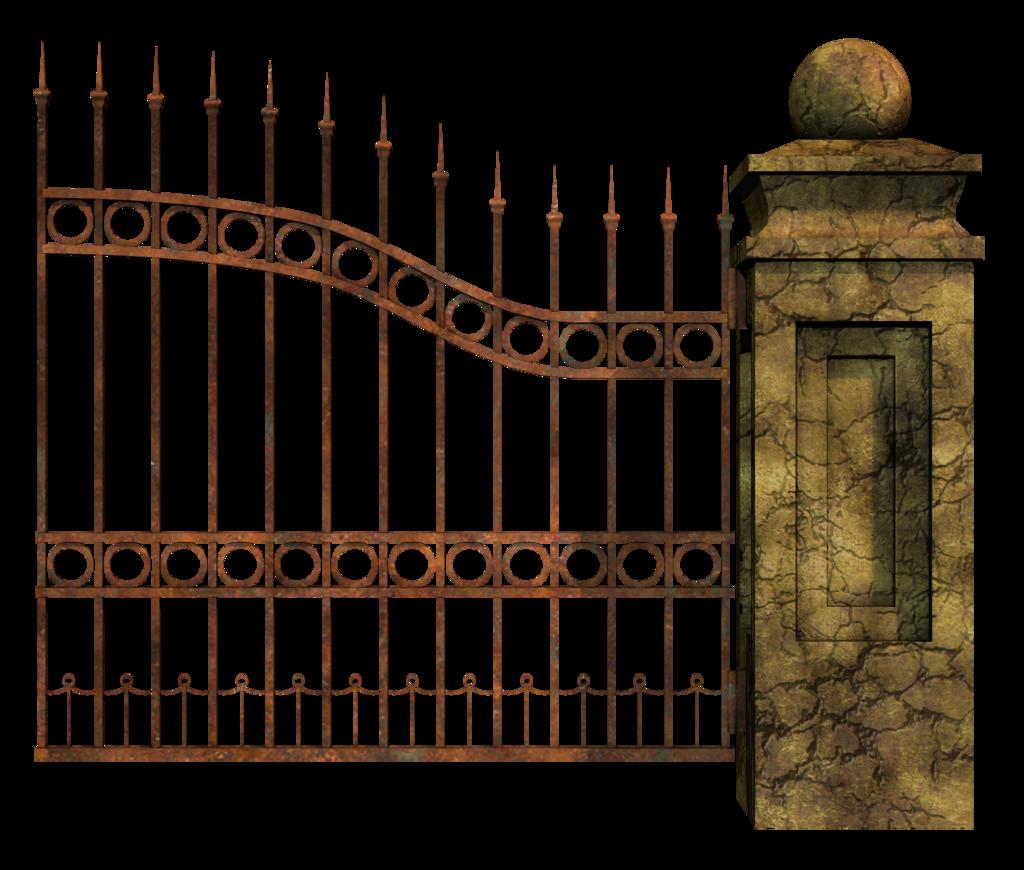 Cemetery clip art transprent. Gate clipart fence gate