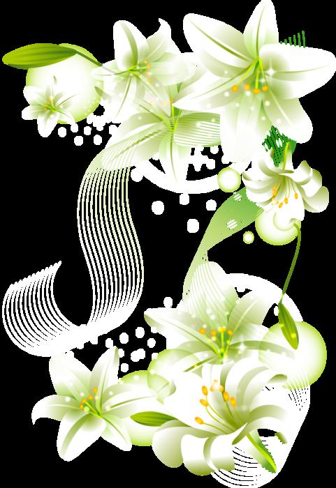 Gate clipart flower. White flowers element free